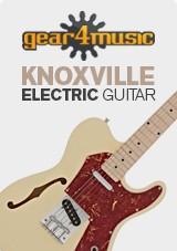 Knoxville/Semi-Hollow électrique guitare par Gear4music, Ivoire