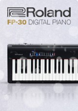 Roland FP-30 SuperNATURAL Digitale Piano, Zwart