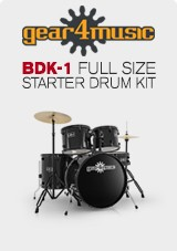BDK-1 Full Size Starter Drum Kit by Gear4music