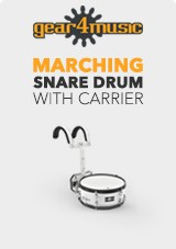 14' X 5.5' Marching Snare Drum with Carrier by Gear4music