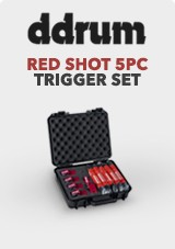 DDrum Red Shot 5pc Trigger Set With Cables & Case